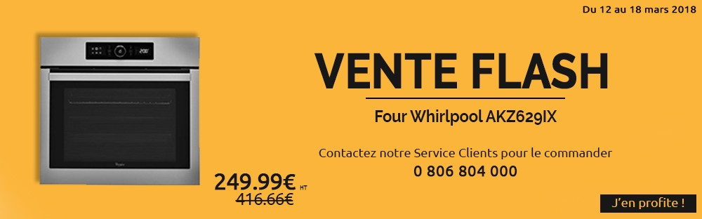 Vente flash whirlpool four